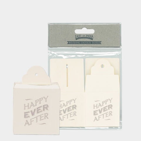East Of India: Wedding Favour Boxes - Happy Ever After - Set of 8