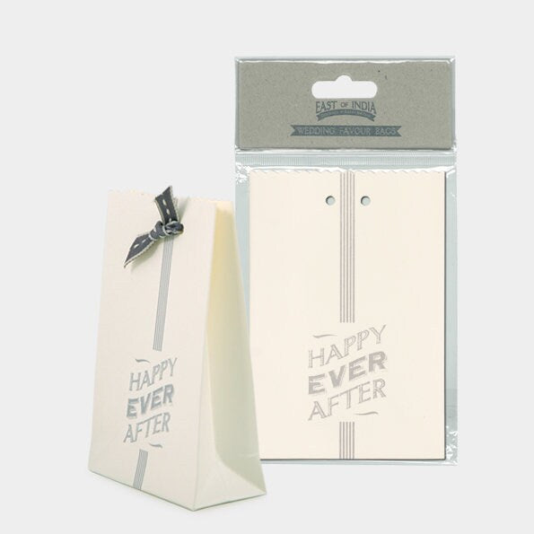 East Of India: Small Gift Bags - Happy Ever After - Set of 6