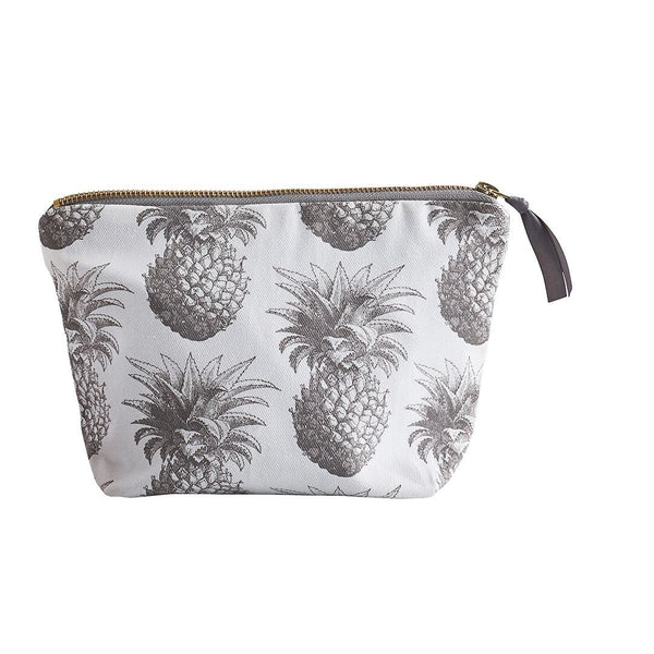 Thornback & Peel - Grey Pineapple Cosmetic Bag - Small