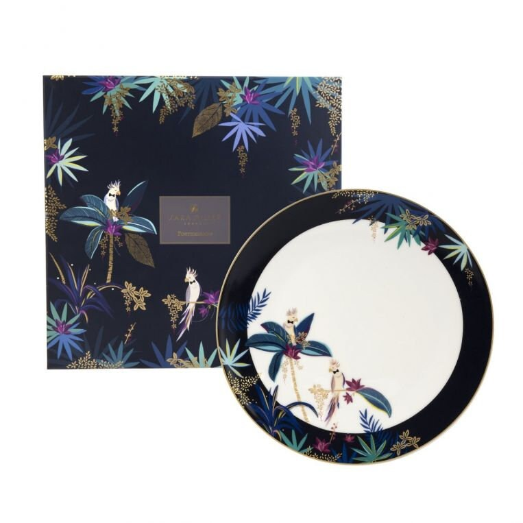 Sara Miller by Portmeirion - Tahiti Collection - Round Platter - Cockatoo