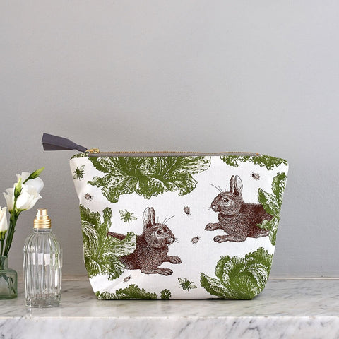Thornback and Peel - Rabbit & Cabbage Cosmetic Bag - Large