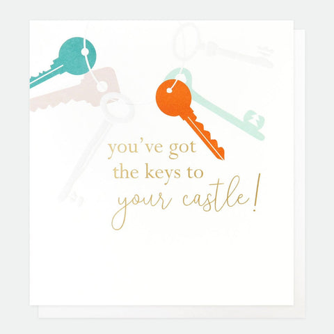 Caroline Gardner - Keys To Your Castle - Greetings Card