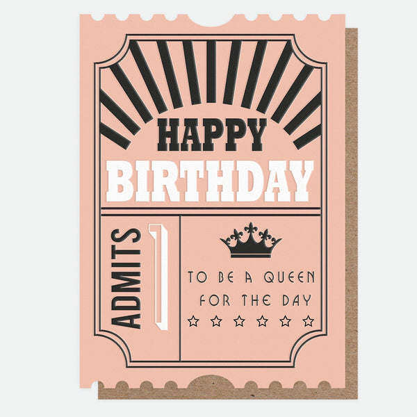 Caroline Gardner - Queen For The Day Birthday - Greetings Card