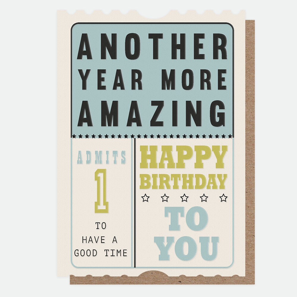 Caroline Gardner - Another Year More Amazing - Greetings Card