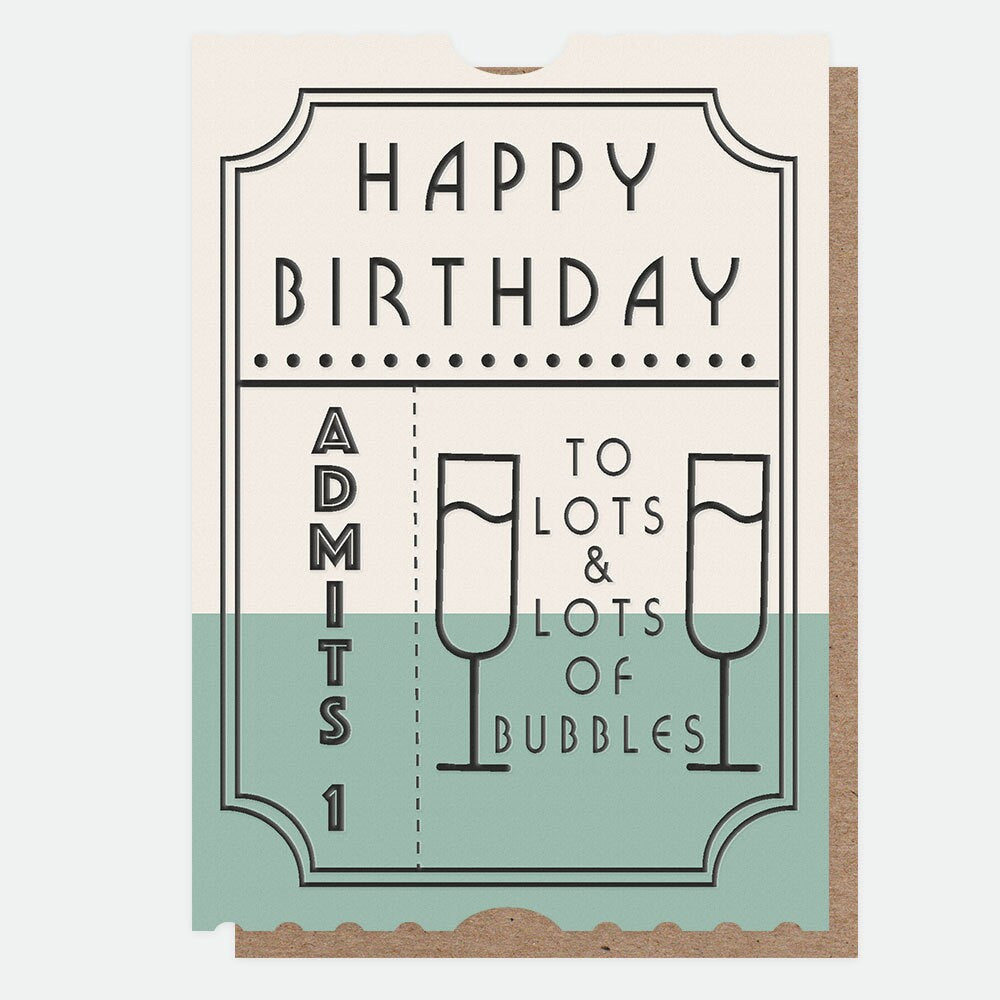 Caroline Gardner - Birthday Bubbles - Greetings Card