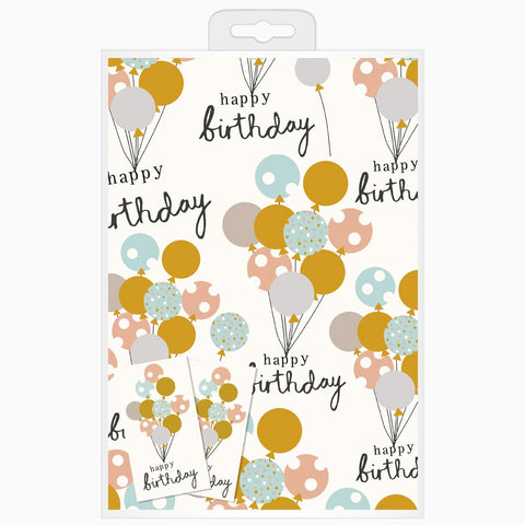 Caroline Gardner - Happy Birthday Balloon Wrap Pack