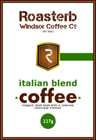 RoasterB Italian Blend Coffee - Premium First Crop 100% Arabica
