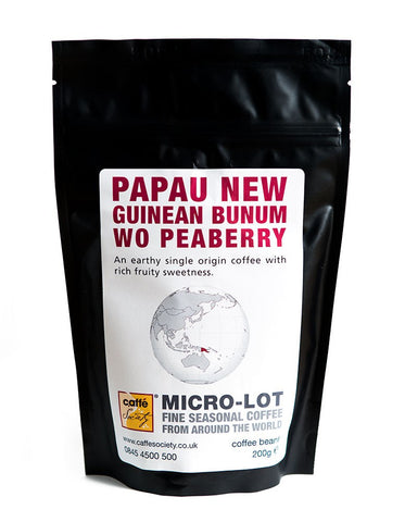 Caffe Society - Papua New Guinean Bunum WO Peaberry