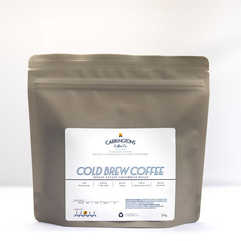 Carringtons Coffee Co: Cold Brew Coffee Roast: Colombia, Finca Las Mercedes, Washed