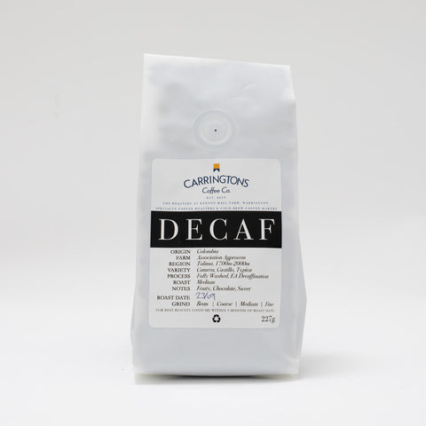 Carringtons Coffee Co: Colombia, Association Agprocem, Decaffeinated
