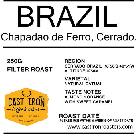 Cast Iron Coffee Roasters - Brazil - Chapadao De Ferro - natural catuai