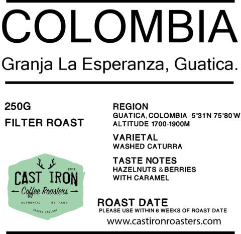 Cast Iron Coffee Roasters - Colombia - Granja La Esperanza, Guatica - Filter