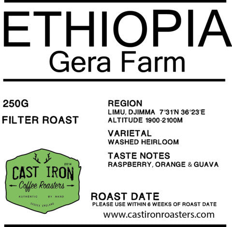 Cast Iron Coffee Roasters - Ethiopia - Gera Farm - washed