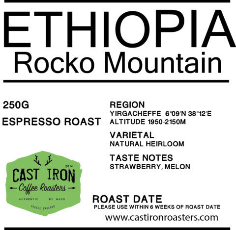 Cast Iron Coffee Roasters - Ethiopia - Rocko Mountain Reserve - Natural - Espresso