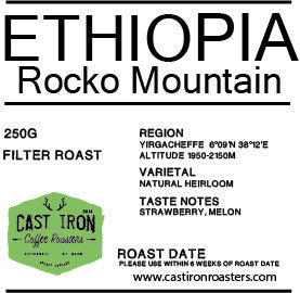 Cast Iron Coffee Roasters - Ethiopia - Rocko Mountain Reserve - Natural - Filter