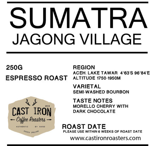 Cast Iron Coffee Roasters - Jagong Village, Sumatra - Espresso