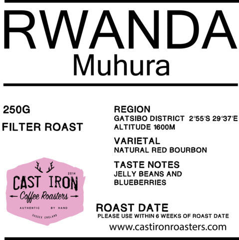 Cast Iron Coffee Roasters - Muhura - Rwanda - Natural - Filter