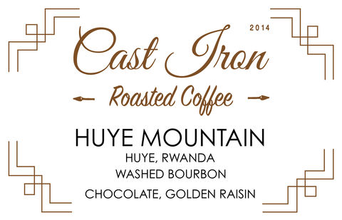 Cast Iron Coffee Roasters: Rwanda, Huye Mountain - Washed