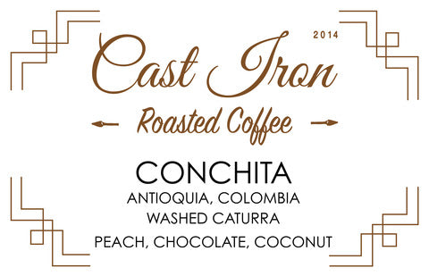 Cast Iron Coffee Roasters: Colombia, Finca La Conchita, Microlot, Washed
