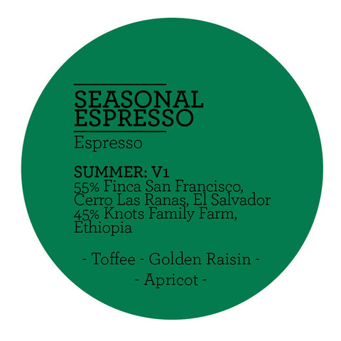 Climpson and Sons - Seasonal Espresso Blend - Summer V1