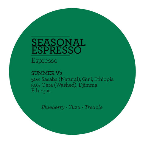 Climpson and Sons - Seasonal Espresso Blend - Summer V2