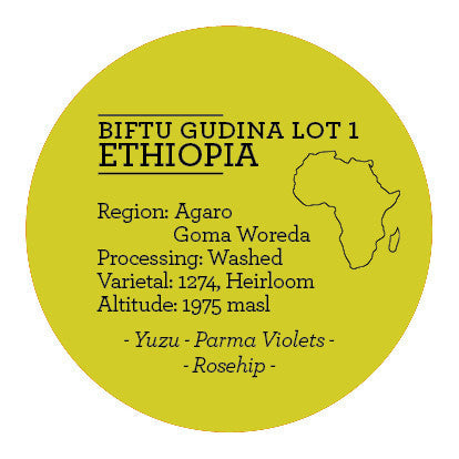 Climpson and Sons - Single Origin: Biftu Gudina Lot 1, Ethiopia