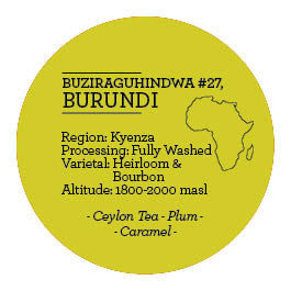 Climpson and Sons - Single Origin: Buziraguhindwa #27, Burundi