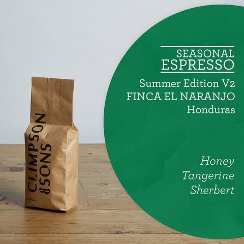 Climpson & Sons - Seasonal Espresso - Summer 2017 V2 - Honduras