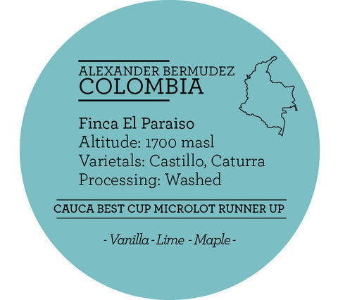 Climpson & Sons - Single Origin: Alexander Bermudez, Colombia