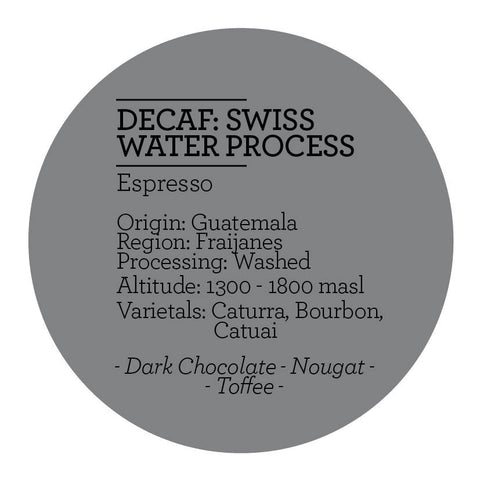 Climpson & Sons - Swiss Water Process Decaf: Fraijanes, Guatemala