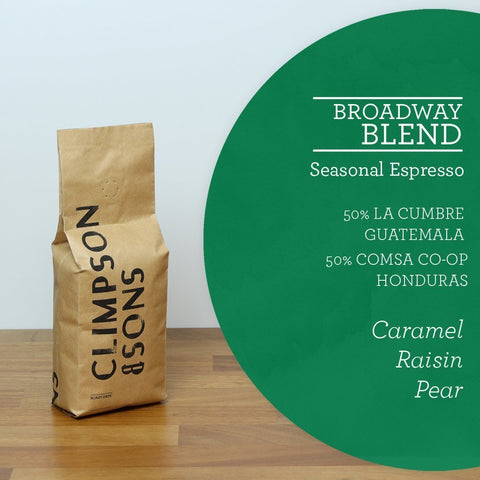 Climpson & Sons: Broadway Blend - Guatemala and Honduras