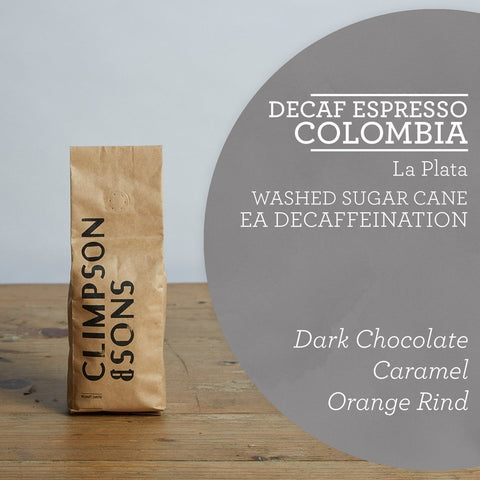 Climpson & Sons: Colombia, La Plata, Decaffeinated