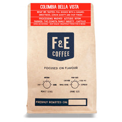 F & E Coffee: Colombia, Bella Vista, Washed