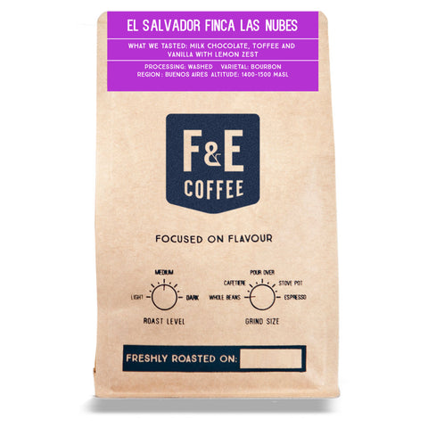 F & E Coffee: El Salvador, Finca Las Nubes, Washed