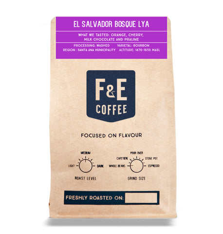 F & E Coffee: El Salvador, Bosque Lya, Washed