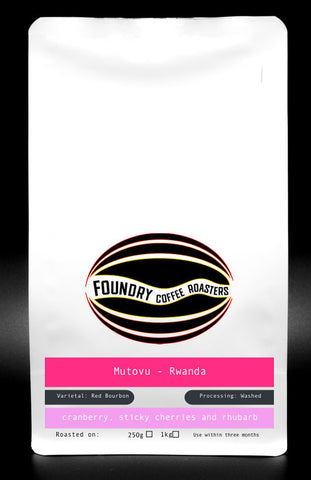 Foundry Coffee Roasters: Mutovu, Rwanda, Washed