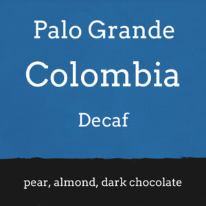 Foundry Coffee Roasters: Colombia, Palo Grande - Cosurca Cooperative, Decaffeinated, Whole bean