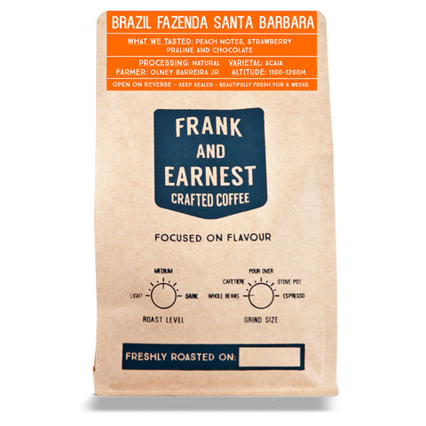 Frank and Earnest Coffee - Brazil - Fazenda Barbara - Natural process