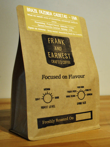 Frank and Earnest Coffee - Brazil Fazenda Caixetas - Uva