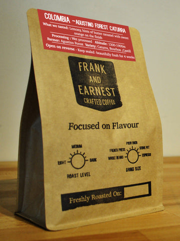 Frank and Earnest Coffee - Colombia - Agustino Forest Caturra