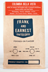 Frank and Earnest Coffee - Colombia - Bella Vista - Washed