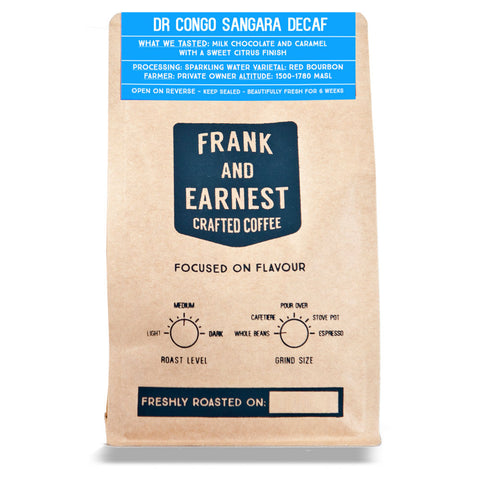 Frank and Earnest Coffee - DR Congo - Sangara - Decaf