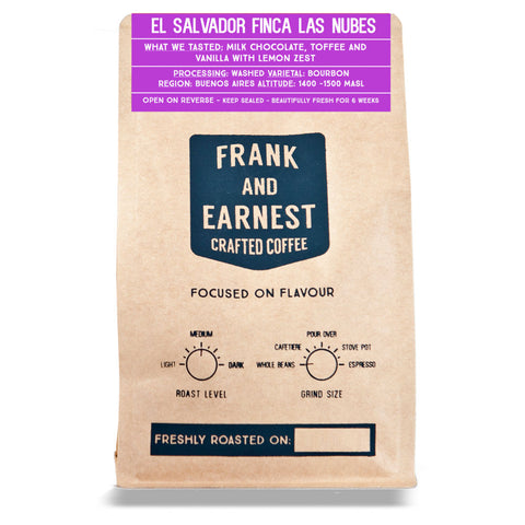 Frank and Earnest Coffee - El Salvador - Finca Las Nubes - Washed