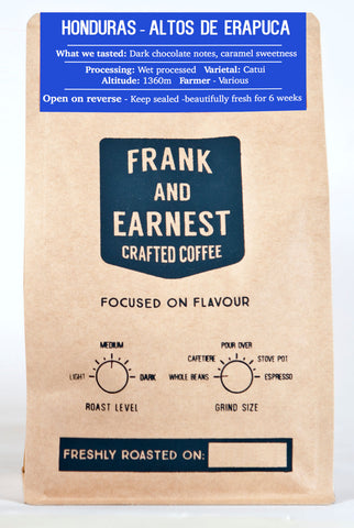 Frank and Earnest Coffee - Honduras - Altos De Erapuca