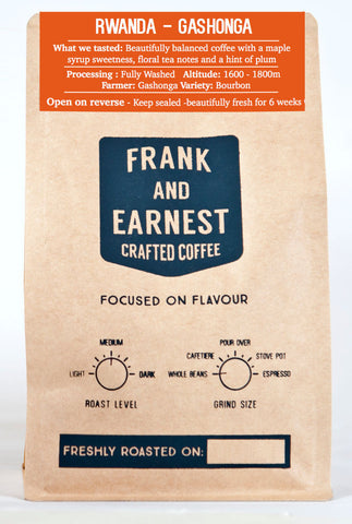 Frank and Earnest Coffee - Rwanda - Gashonga