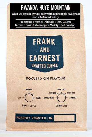 Frank and Earnest Coffee - Rwanda - Huye Mountain