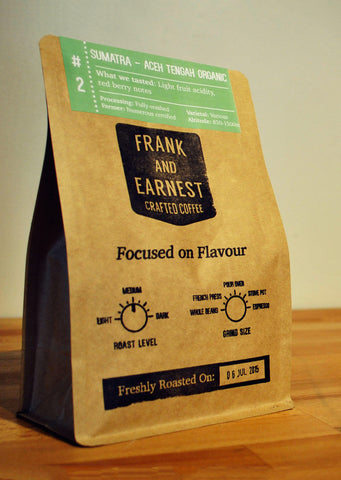 Frank and Earnest Coffee - Sumatra - Aceh Tengah Organic