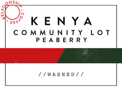 Horsham Coffee Roaster - Kenya - Community Lot - Peaberry - Relationship Coffee