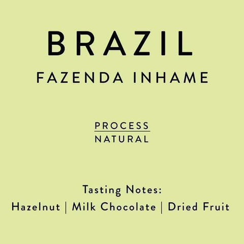Horsham Coffee Roaster: Brazil, Inhame, Natural