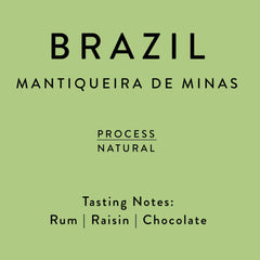 Horsham Coffee Roaster: Brazil, Mantiqueira, Natural